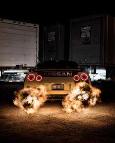 "Nissan GTR 2015 supercar  night city Poster 24/"" x 36/"""