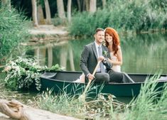 Dreamy lakeside wedding inspiration styled by Alyssia B Photography + Callie Hobbs Photography. Dress by Maggie Sottero, florals by Flowers by Adrien. See more on Green Wedding Shoes! Boat Wedding, Lakeside Wedding, Wedding Shoot, Wedding Couples, Canoes, Maggie Sottero, Green Wedding Shoes, Hobbs, Real Weddings