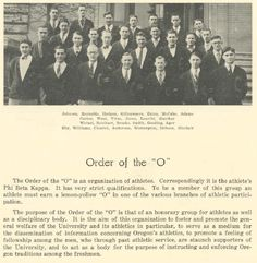 "1925-26 UO lettermen ""Order of the O""  From the 1926 Oregana (University of Oregon yearbook).  www.CampusAttic.com"