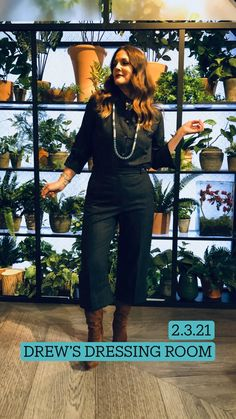 Drew Barrymore Style, Little Linda, Capri Trousers, Turquoise Rings, Platform Boots, Dressing Room, Chunky Heels, Girl Crushes, Celebrity Style