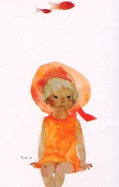chihiro iwasaki. i love her watercolours