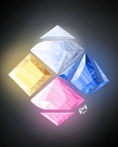 The Great Diamond Authority art by vaislaice<< I noticed that Yellow's gem is the only one that perfectly fits into this. Steven Universe Theories, Steven Universe Movie, Universe Love, Universe Art, Steven Universe Pictures, Steven Universe Wallpaper, Diamond Authority, Pink Diamond Steven Universe, Steven Univese