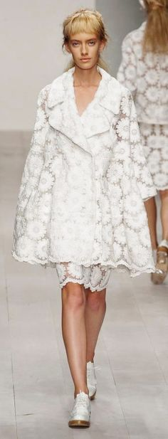 Lace Coat by  Simone Rocha Spring / Summer 2013