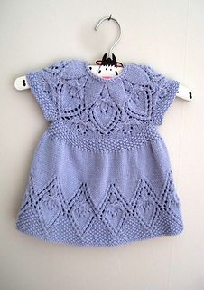 Ravelry: Cora Dress pattern by Suzie Sparkles. Baby dress knitting pattern, girls dress knit pattern, top down knitting, seamless knitting, one piece.