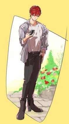 Image Handsome Anime Guys, Cute Anime Guys, Boy Illustration, Character Illustration, Guy Drawing, Drawing People, Character Concept, Character Design, Korean Art