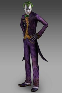 Batman: Arkham Asylum Art & Pictures,  Joker - Render