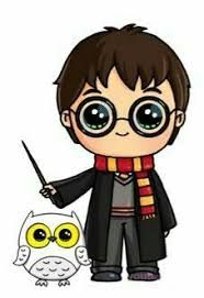 Harry Potter und Hedwig als Kawaii Harry Potter Tumblr, Arte Do Harry Potter, Harry Potter Cartoon, Cute Harry Potter, Harry Potter Drawings, Kawaii Disney, Disney Art, Kawaii Girl Drawings, Kawaii Art