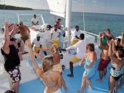 Sunny Day Catamaran Cruise Adult Price: $98.00   No trip to the Caribbean is complete without a day sailing on a catamaran. This fun filled tour takes you on beautiful azure waters along the powder white sandy coastline of Bavaro and Punta Cana. Snorkel with tropical fish. With lunch and an open bar included. Punta Cana, Bavaro and Cap Cana https://www.therealdr.com/book-punta-cana-tours/sunny-day-catamaran-cruise.html