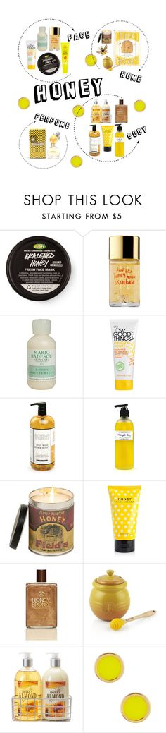 """Honey"" by nausicaa12 ❤ liked on Polyvore featuring beauty, Touch in Sol, Mario Badescu Skin Care, Manuka, Archipelago Botanicals, WALL, Marc Jacobs, The Body Shop, Crate and Barrel and Simple Pleasures"