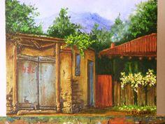 Pirque....... calle Ramón Subercaseaux Vicuña, dueño de toda esa linda localidad, todo lo que pinto son mis propias fotografías del lugar