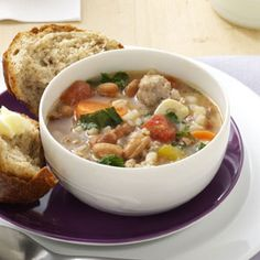 Really great, hearty soup that everyone liked.  Super-quick in the pressure cooker.