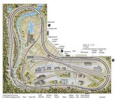 5x10 Ho layout - from Track Plan Database | ModelRailroader.com #modeltrainlayouts #modelrailway