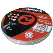 Abracs Proflex Extra Thin Metal Cutting Discs 115mm x 1.0mm Inox Pk 10