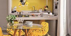 Cozinha e sala de jantar para exibir O chef não fica de fora da conversa nesta proposta de ambientes integrados, prática no dia a dia e encantadora na hora de receber as visitas.