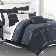 Nautica Southport Reversible Comforter Set Size: Full/Queen