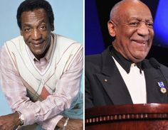 Bill Cosby: before and after....Funny how time goes by.