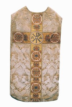 Chasuble  Velvet with so-called 'deer pattern', probably German  Date: c. 1900-1910