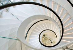 white spiral minimalism