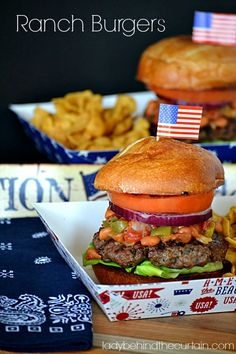 Ranch Burgers. Because 'merica. #wabeeflove