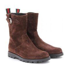 Gucci - Suede boots #suedeboots #gucciogucci #gucci #designer #covetme