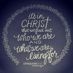 In Christ.