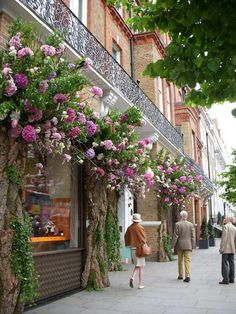 ~Chelsea, London~  Great idea for exterior of a tea room!