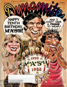 dynamite the cast of mash | Dynamite magazine covers (1981-1983) - Click Americana