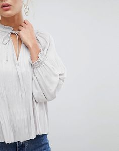 692b1eee724e74 Discover Fashion Online Fashion Online, Ruffles, Asos, Loft, Shoulder, Lace  Tops