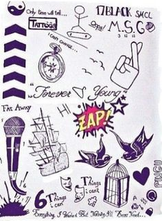 Tats of the boys. Is it bad that I know which one belongs to who.?