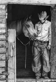 Partners by Glynnis Miller Pencil ~ 22 x 15