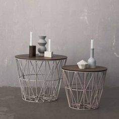 Ferm living wire baskets available at Friday next #fridaynext #fridaynextconceptstore