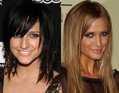 I think my days of being so blonde are numbered!? Maybe the one on the right???