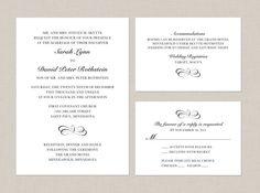 DIY Printable Wedding Invitation Suite by SarahMarieCreative, $40.00