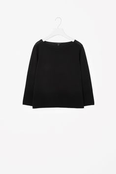 COS image 4 of Ribbed panel jumper in Black
