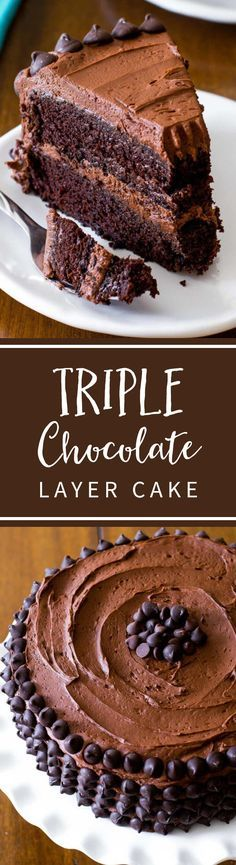 This is my favorite homemade chocolate cake recipe. Top with creamy chocolate buttercream and chocolate chips for the flavor! Best Dessert Recipes, Cupcake Recipes, Baking Recipes, Delicious Desserts, Mini Desserts, Chocolate Desserts, Chocolate Cake, Chocolate Muffins, Weight Watcher Desserts