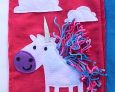 NEW* Unicorn Quiet Book page