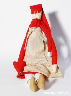 navidad, christmas, xmas, nadal, mama noela, papa noël, noel, blanco, rojo, tilda, muñeco, niños, regalos
