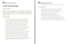 Events Manager Job Description  A Template To Quickly Document