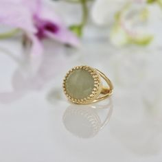 RP: Lemon Jade Gold Ring