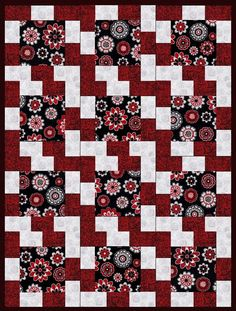 Melrazzi Rose Pre-Cut Quilt Blocks Kit from Quilt Kit Shop