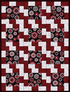 Melrazzi Rose Pre-Cut Quilt Blocks Kit from Quilt Kit Shop
