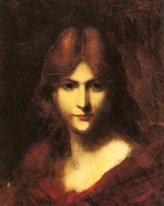 Jean Jacques Henner - A Red haired Beauty - Jean-Jacques Henner — Wikipédia