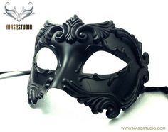 Roman Mens Black Masquerade Mask Venice Carnival – Masquerade mask for man Black Masquerade Mask, Masquerade Ball Party, Halloween Masquerade, Mascarade Mask For Men, Cool Masks, Carnival Masks, Venetian Masks, Dark Fantasy, Mask Design