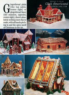 Gingerbread house gallery: Christmas cookies & candy (1987) - Click Americana