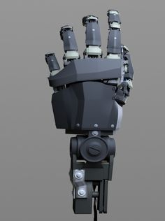 maya mechanical robotic hand