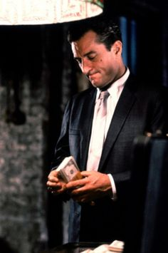 """Robert Dinero from """"Good Fellas""""...he will always be hot as hell in my eyes. Al Pacino, Goodfellas 1990, Jimmy Conway Goodfellas, The Godfather Part Ii, Don Corleone, Gangster Movies, Casino Movie, Crime Film, Black Queen"""