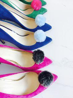 Pombons pom pom shoe clips   Style-them-yourself pom pom shoes