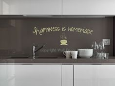 Happiness is Homemade Vinyl Wall Decal. If I created this one, I would say happiness is a double shot...or spiked... ;-)
