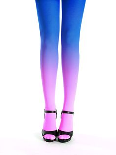 a64c2707f8f Hand dyed superb quality pink-sapphire ombre tights by Virivee! The  material is super