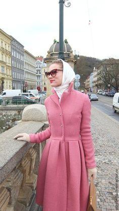"""Верхняя одежда ручной работы. Ярмарка Мастеров - ручная работа. Купить Пальто в ретро-стиле """"Sabrina"""", зима. Handmade. Розовый"""